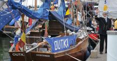 Houten klassieke jachten op Oostende voor Anker