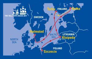 Tall Ships Races trjact 2017