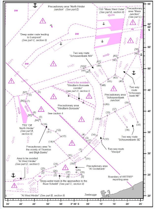 Kaart Noordzee windmolenparken